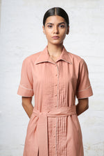 Dusty Pink Shirt Dress
