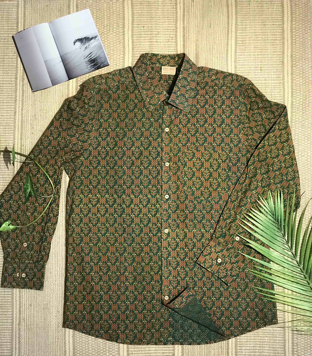 Green Jungle Flame - Full Sleeve Shirt