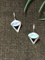 Rainbow Moonstone Conical Earrings