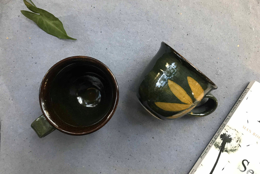 Leaf Print Cup (Set of 2)