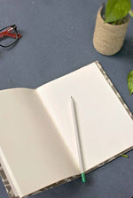 Grey Leaf Print Journal