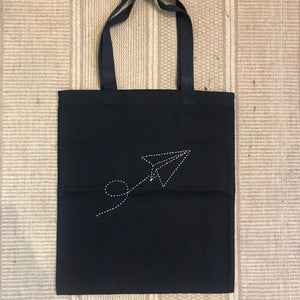 Cotton Canvas Tote Bag - Paper Plane