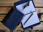 The Burlap Journal in Midnight Blue