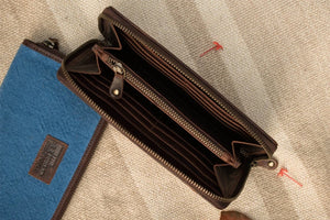 Camel Check Zip Wallet