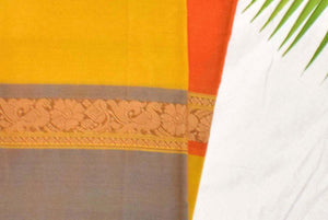Yellow Mellow - Kanchi Cotton Saree