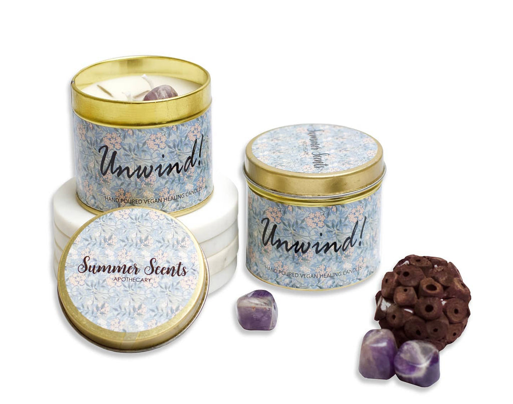Unwind Crystal Candle