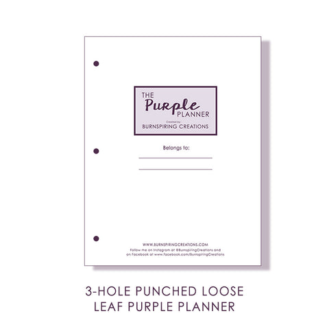 2021 Purple Planner Inserts (February 2021 - January 2022)