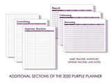 2021 Purple Planner with Binder (February 2021 - January 2022)