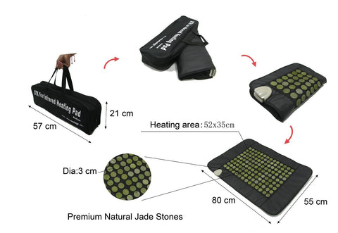 Jade Heating Pad - UTK Far Infrared Heat Mat - Medium - Vita Activate