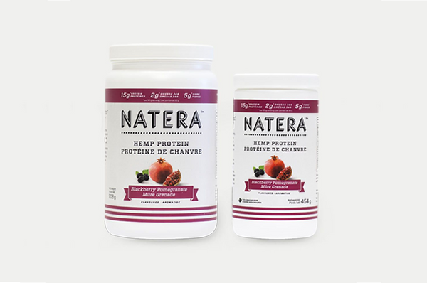 NATERA Hemp Protein Blackberry & Pomegranate Canister - Vita Activate
