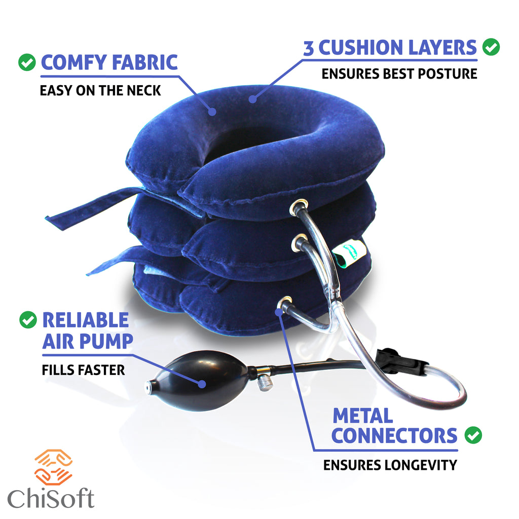 Neck Traction Device (2nd Edition) ChiSoft®  Neck Stretcher - Vita Activate