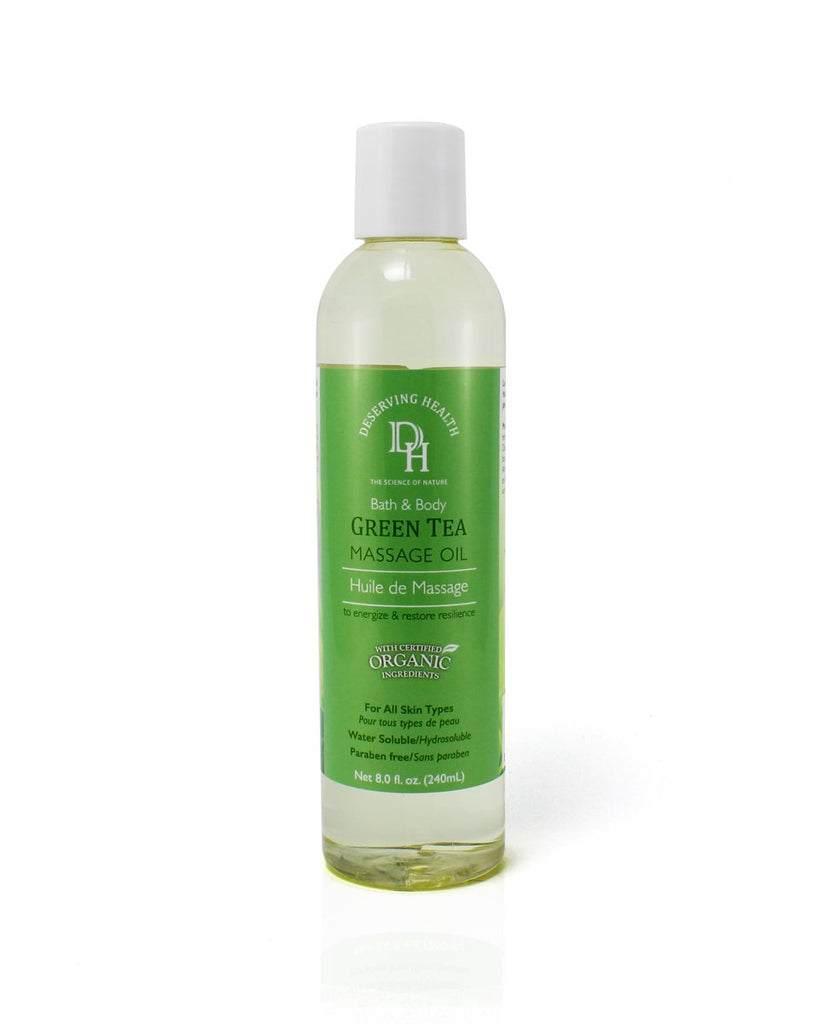 Green Tea Massage Oil - Relaxes, Calms Skin - Vita Activate