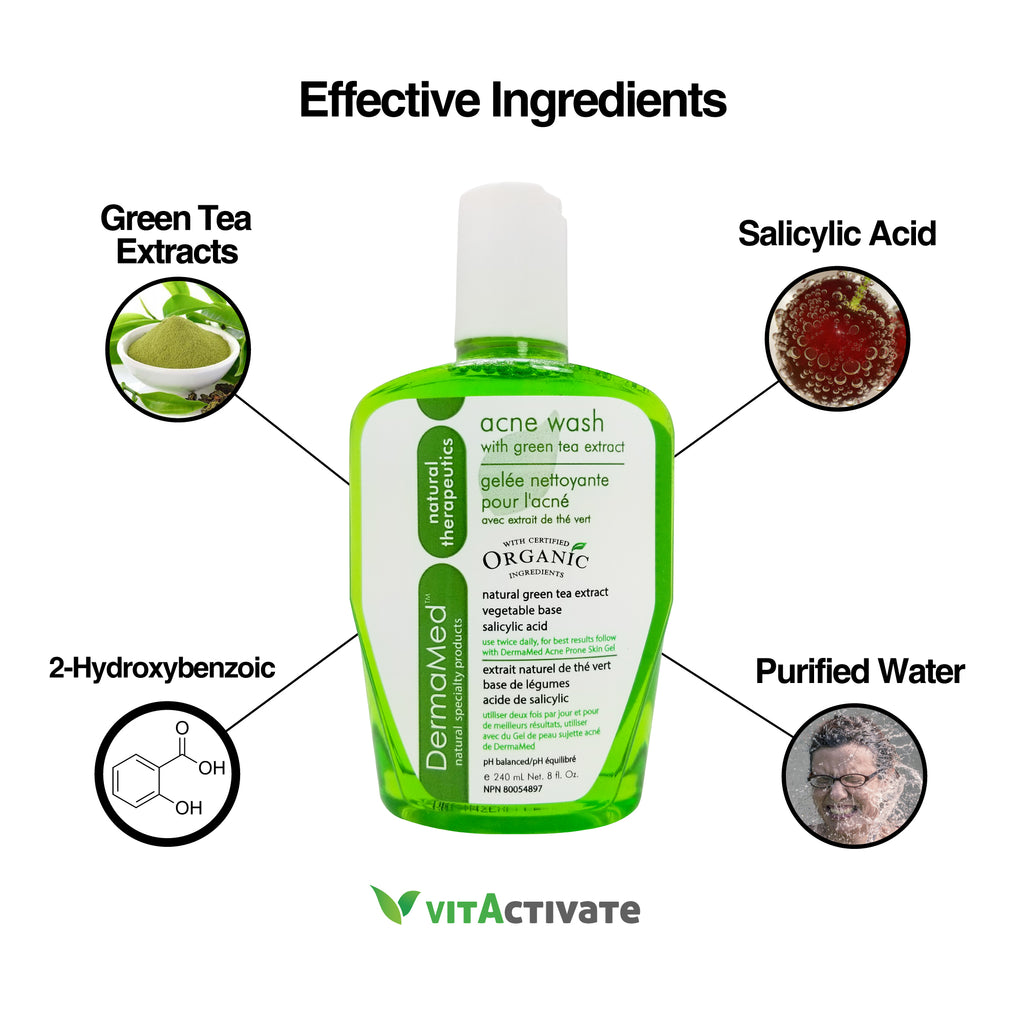 Acne Face Wash + Acne Gel Combo Treatment - DERMAMED - Vita Activate