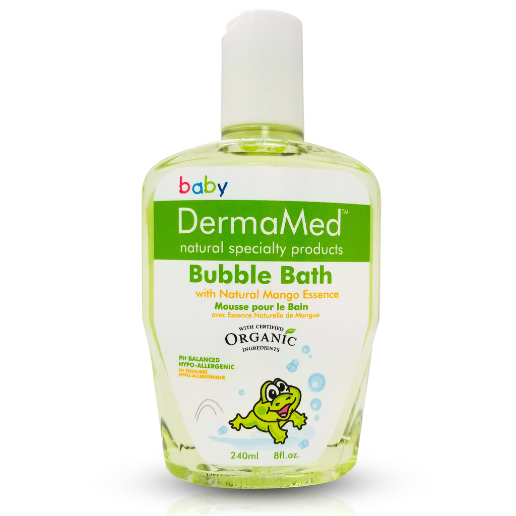Baby Bubble Bath with Mango Essence - Certified Organic Ingredients - Vita Activate