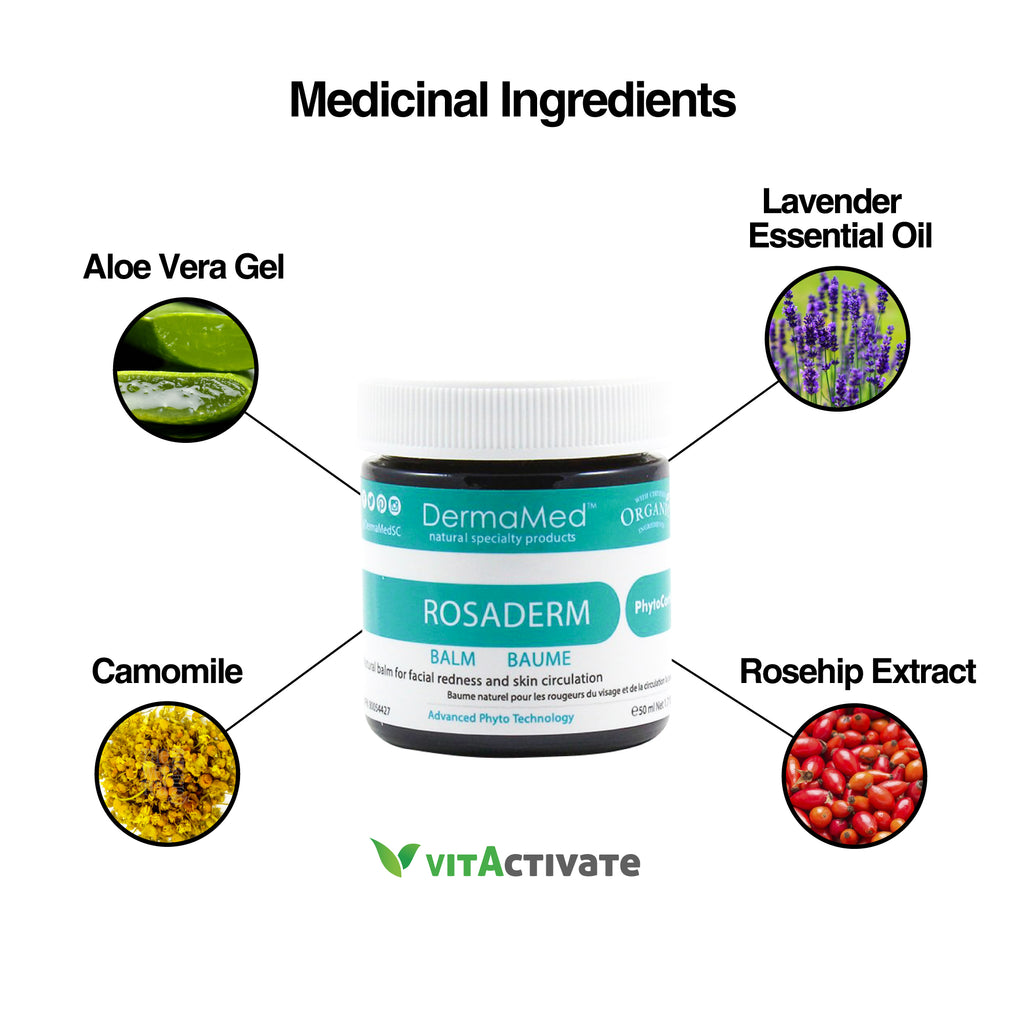 Rosacea Cream Reduce Facial Redness - Organic Balm - Vita Activate