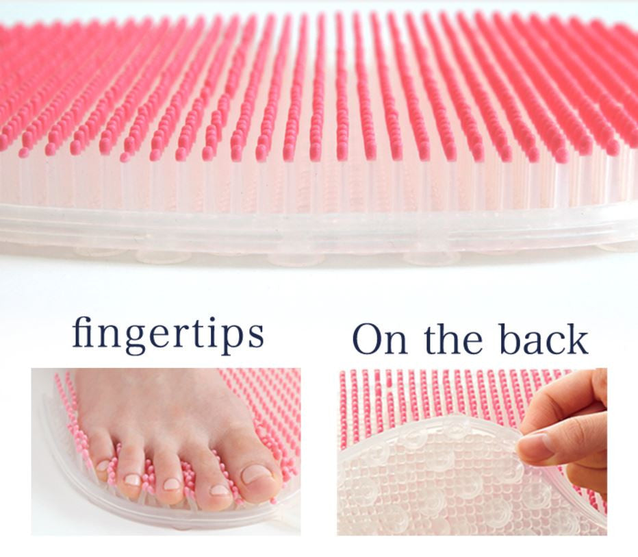 Foot Scrubber for Shower with Silicone Massaging Brush - Vita Activate