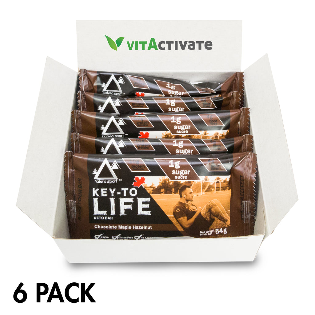 Keto Diet Bar - Hemp Plant Protein (6-Pack) Choco Maple - Vita Activate