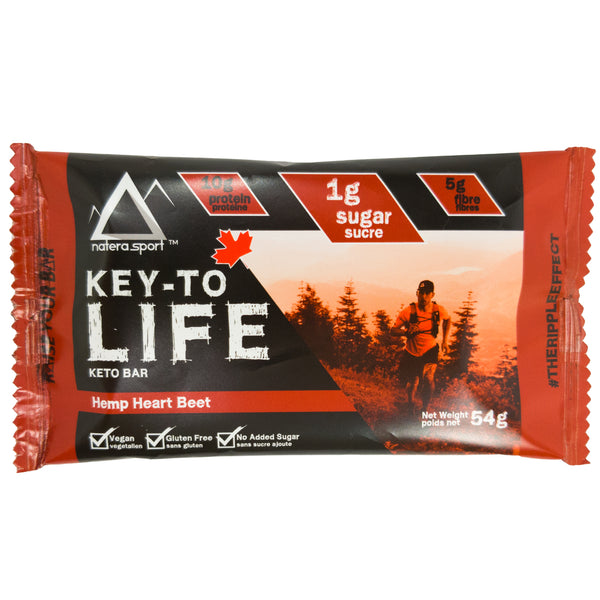 Keto Snacks - Hemp Plant Protein Bar (6-Pack) - Red Velvet - Vita Activate