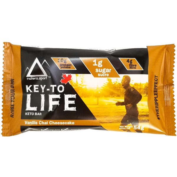 Keto Snack - Hemp Protein Supplement Bar (6-Pack) - Vanilla Cheesecake - Vita Activate