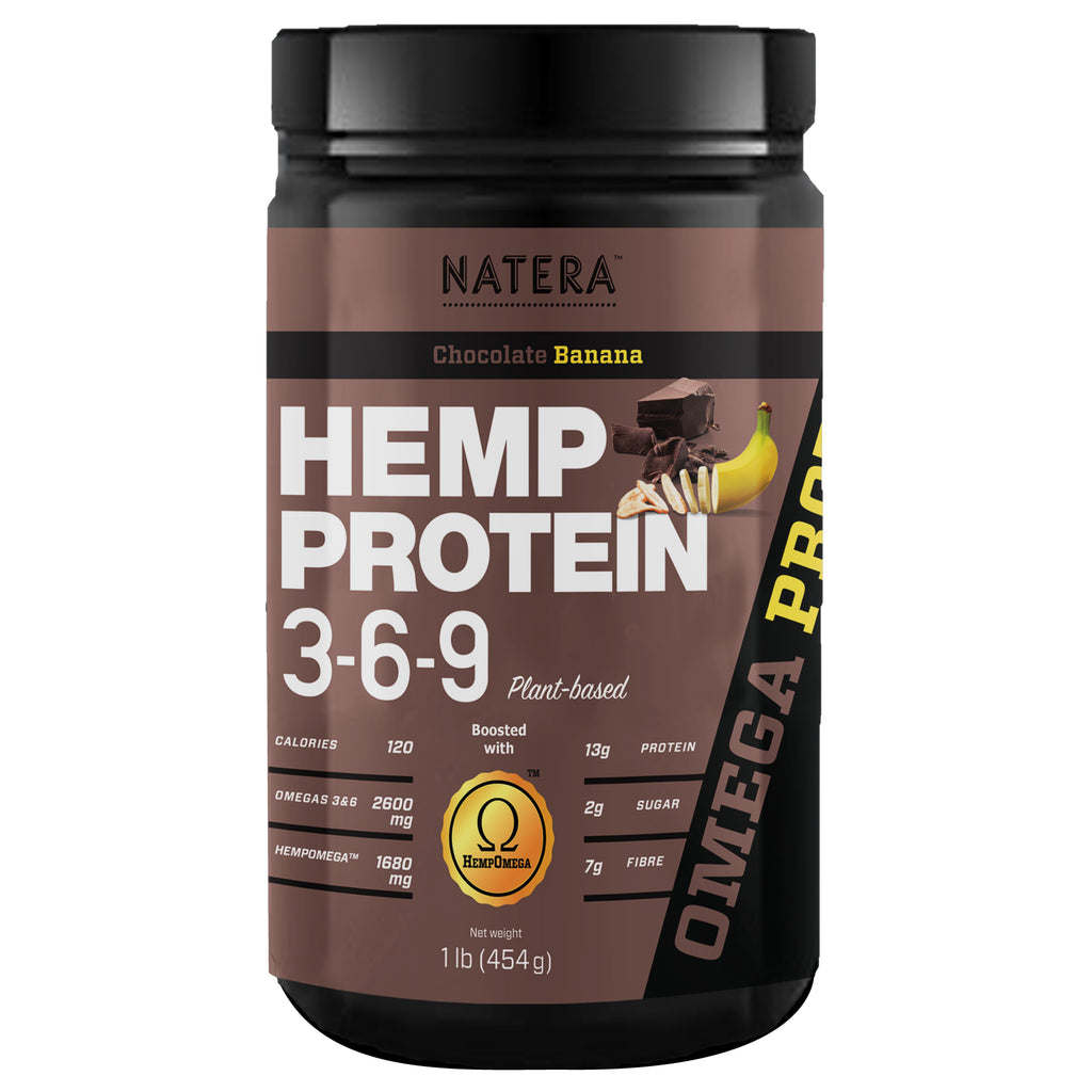Hemp Protein 369 + Gingseng for Extra Energy (Chocolate Banana) NATERA - Vita Activate