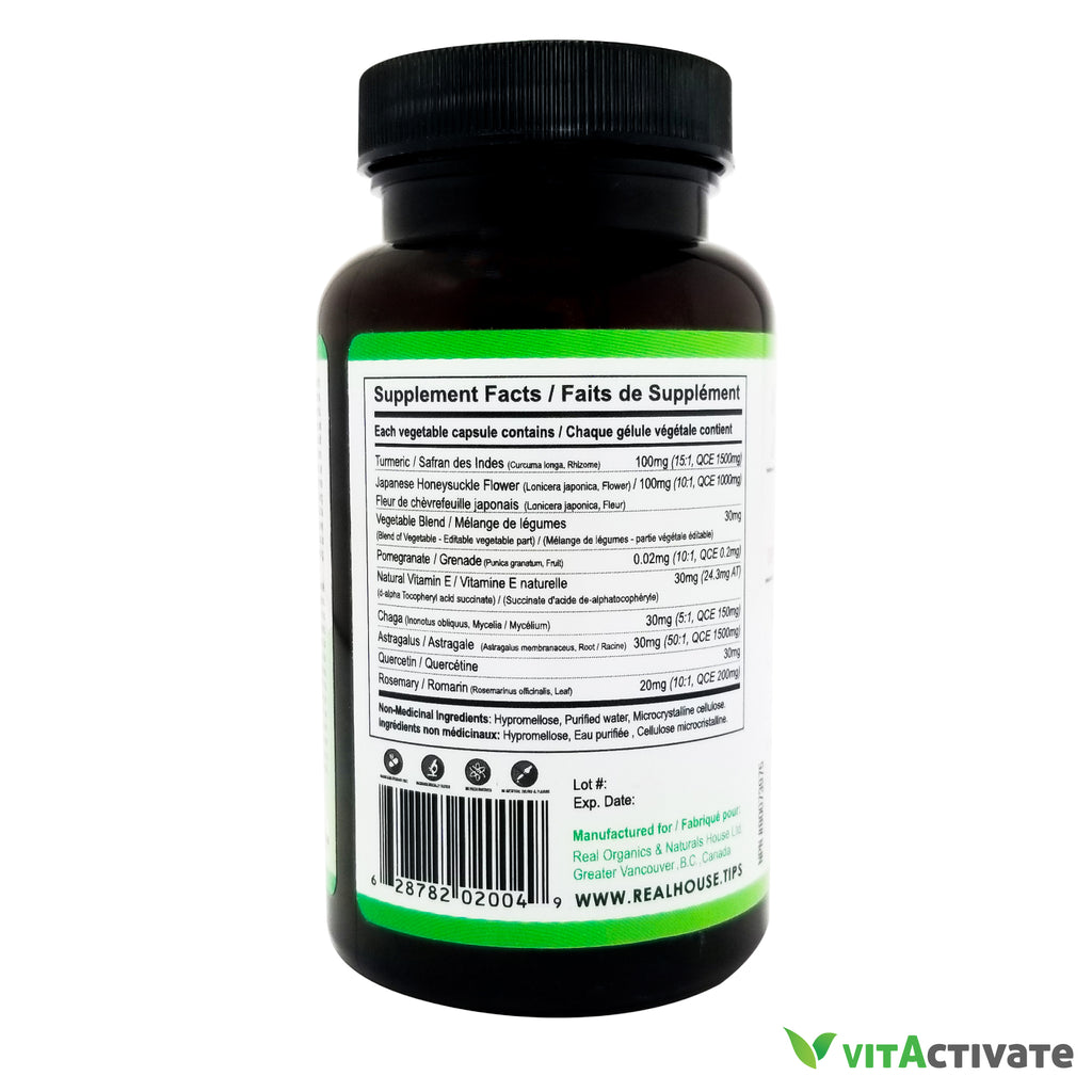 Lung Support Supplement with Chaga Mushroom Powder - Vita Activate