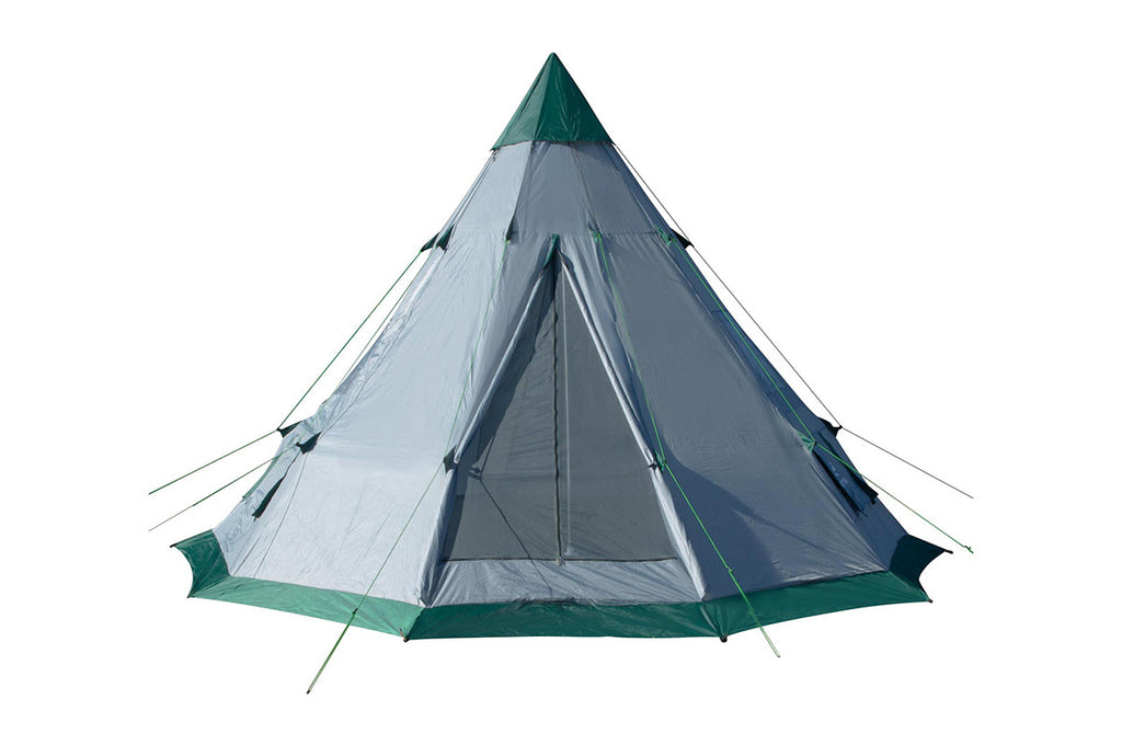 Quick Set-up 6-7 Person Spacious Teepee Family Camping Tent - Vita Activate