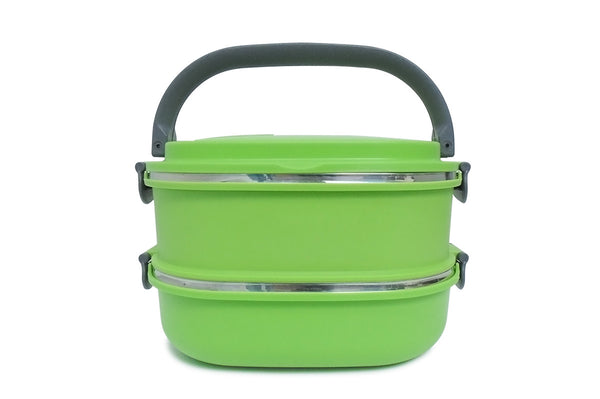 Lunch Box Two-Tier Stainless Steel - Vita Activate