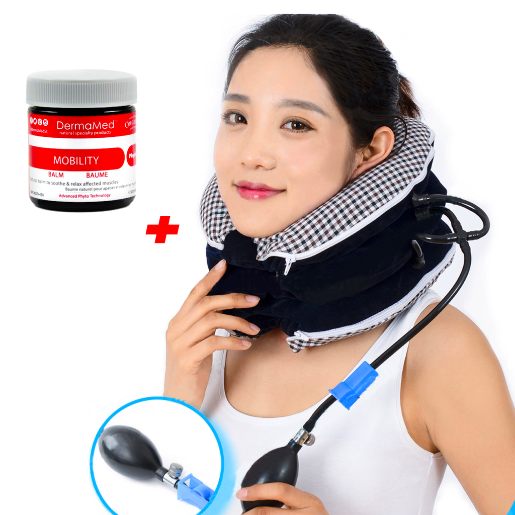 Neck Traction Device (3rd Edition) Washable Cover + Mobility Muscle Balm CHISOFT - Vita Activate