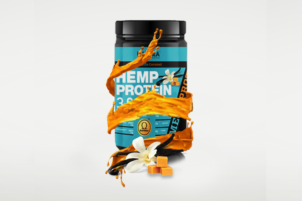 Hemp Protein 369 + Gingseng for Extra Energy (Vanilla Caramel) NATERA - Vita Activate