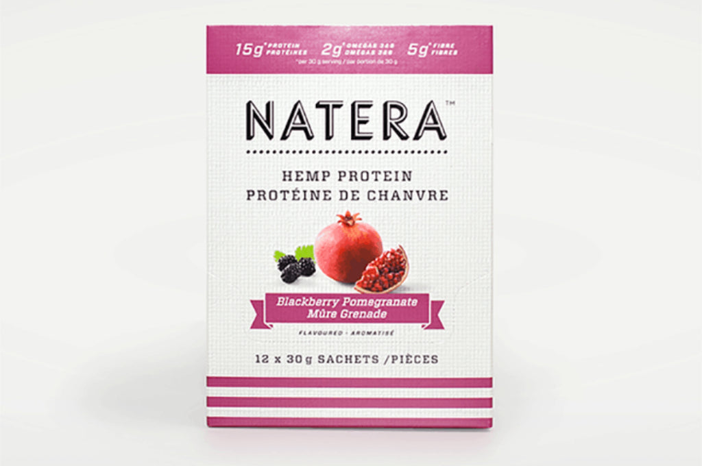 NATERA Hemp Protein Blackberry & Pomegranate Sachets - Vita Activate