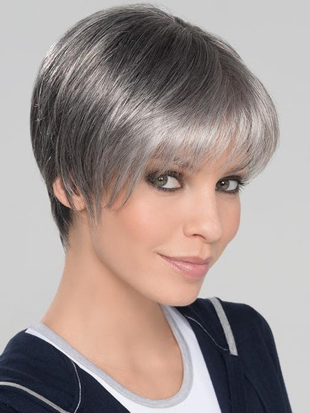 SEVEN SUPER by ELLEN WILLE in SALT-PEPPER-MIX | Light Natural Brown with 75% Gray,  Medium Brown with 70% Gray and Pure White Blend