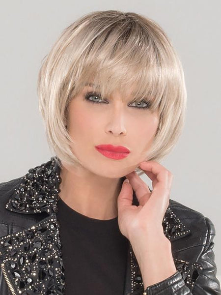 BLUES by Ellen Wille in LIGHT-CHAMPAGNE-ROOTED | Pearl Platinum and Light Golden Blonde Blend with Medium Brown Roots