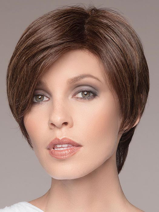 XELA by ELLEN WILLE in DARK CHOCOLATE MIX | Dark Brown base with Light Reddish Brown highlights