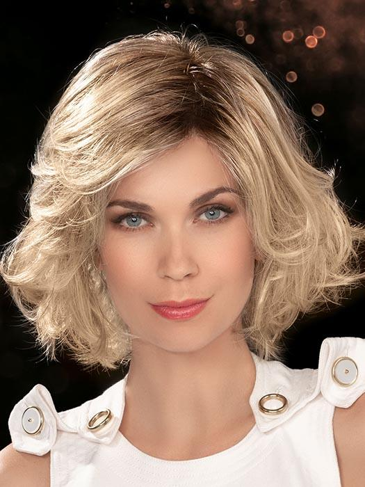CHARISMA by ELLEN WILLE in LIGHT HONEY ROOTED | Medium Honey Blonde, Platinum Blonde, and Light Golden Blonde blend with Dark Roots