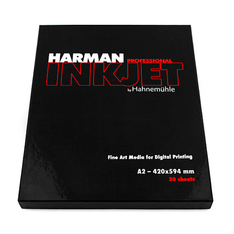 A2 - Harman by Hahnemühle Gloss Art Fibre Warmtone 300 g - 30 hojas