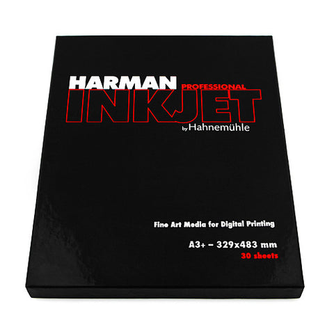 A3+ Harman by Hahnemühle Gloss Art Fibre 300 g - 30 hojas