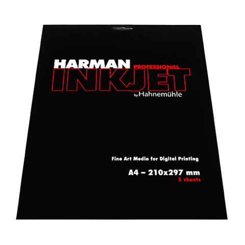 A4 - Muestras Harman by Hahnemühle Gloss Art Fibre Warmtone 300 g - 5 hojas