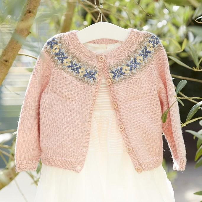 A Princess Charlotte cardigan to knit