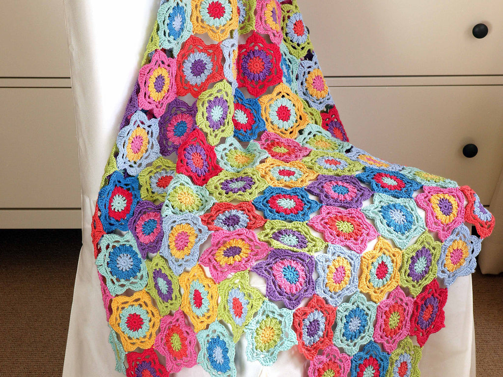 Technicolour Floral Blanket CAL with Sweet Sharna