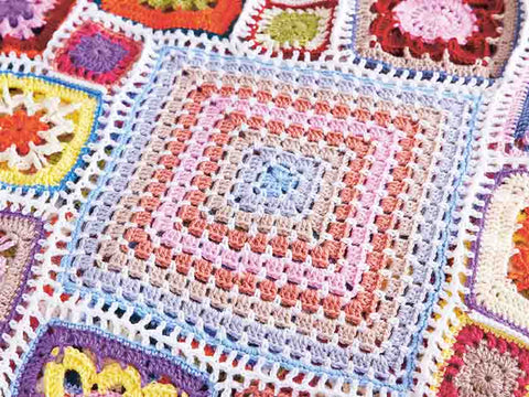Happily Ever After Granny Square Blanket Crochet A Long The