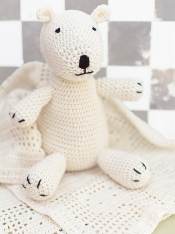 Baby Teddy Bear And Blanket Set Crochet Patterns