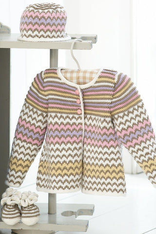 Baby Candy Coat Set Knitting Patterns