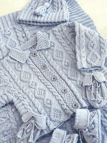 Baby Jacket, Accessories And Blanket Knitting Patterns