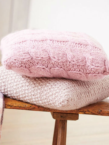 Cable And Moss Stitch Cushion Cover Knitting Patterns