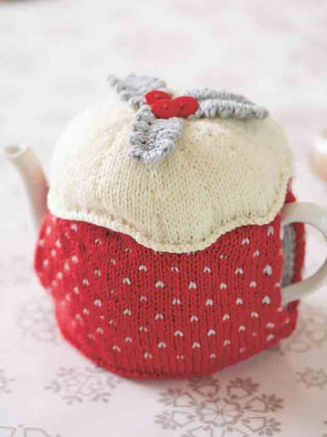 Christmas Pudding Tea Cosy Knitting Pattern