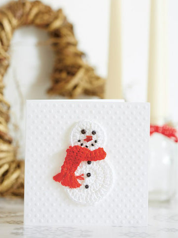 Christmas card with snowman motif