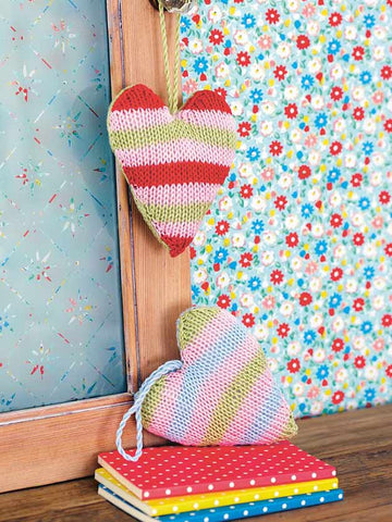 Hanging heart make knitting pattern