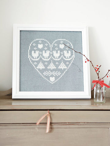Heart sampler knitting pattern