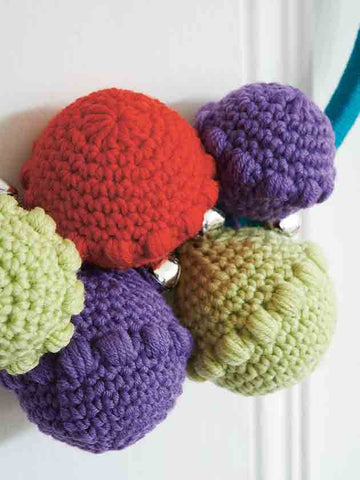 Puff Stitch Christmas Baubles Crochet Pattern