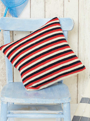 Reversible Cable And Striped Cushion Cover Knitting Pattern